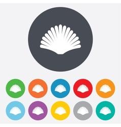 Sea shell sign icon Conch symbol Travel icon vector image