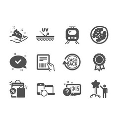 Set business icons such as uv protection vector