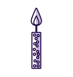Shadow birthday candle cartoon vector