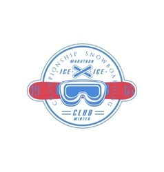 Snowboarding Club Emblem Design vector