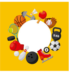 Sport related icons vector