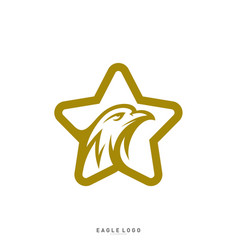star eagle logo template eagle logo with stars vector image