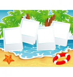 summer beach back vector image
