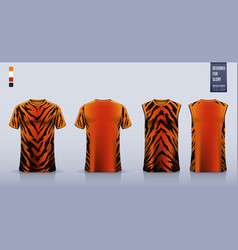 T-shirt sport mockup template design vector