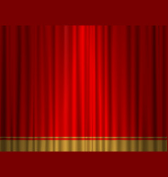 Theatre red gold curtain vector