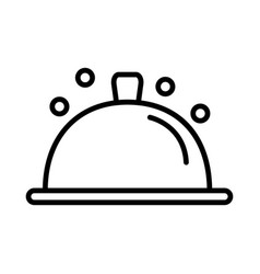 Tray icon on white background vector