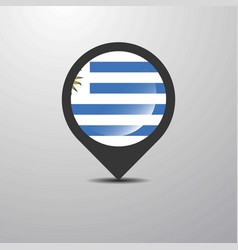 Uruguay map pin vector