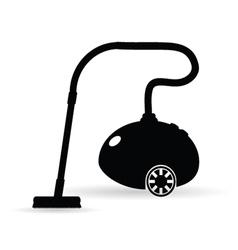vacuum cleaner in black vector image