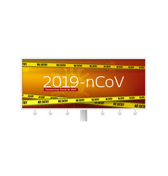 Virus covid 19-ncp billboard with warning text vector