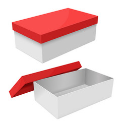 white box packaging with red lid vector image