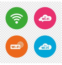 wifi wireless network icons wi-fi speech bubble vector image
