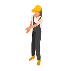 woman engineer construction icon isometric style vector image