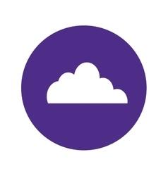 Cloud storage button image vector