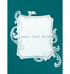 French style frame vector image vector image