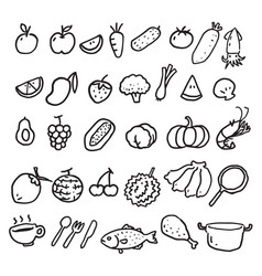 hand draw food vector image
