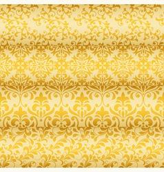 Seamless floral golden borders vector