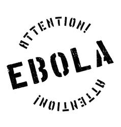 Ebola rubber stamp vector