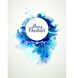 Merry Christmas inscription on the abstract winter vector image vector image