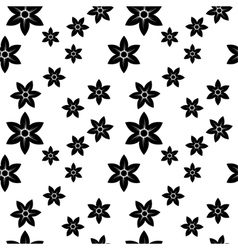 narcissus monochrome pattern vector image vector image