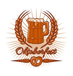 oktoberfest logo design vector image