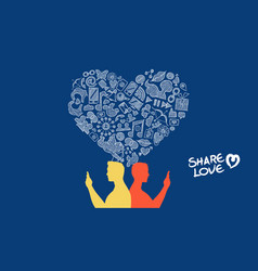 social media internet love gay couple concept vector image vector image