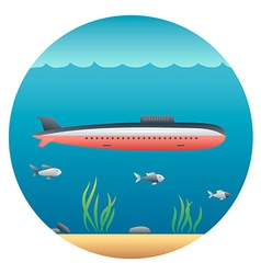 Submarine Detailed vector image