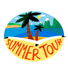 summer beach background tropical landscape with vector image vector image