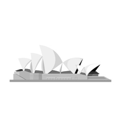 Sydney opera house icon in monochrome style vector