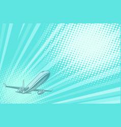 takeoff aviation background flight journey vector image vector image