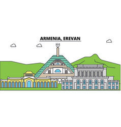 armenia erevan outline city skyline linear vector image vector image