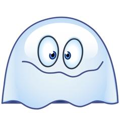 ghost emoticon vector image vector image