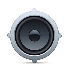 speaker isolated on white background vector image vector image
