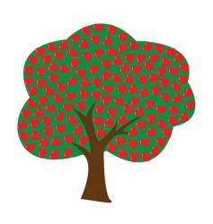 vector love tree vector image vector image
