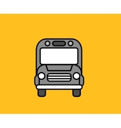 Bus Front Icon Design Flat Isolated vector image vector image