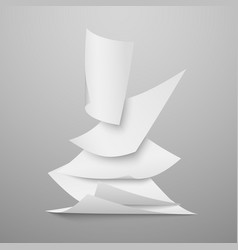 falling document blank white papers pages vector image vector image