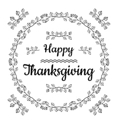 Happy Thanksgiving card design vector image vector image
