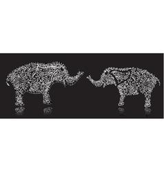 stylish design elephant vector image