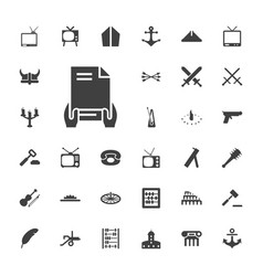 33 antique icons vector