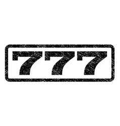 777 watermark stamp vector image
