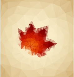Abstract Maple vector image vector image