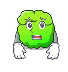 Afraid shrub mascot cartoon style vector