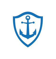 anchor concept logo icon vector image