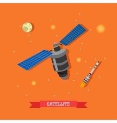Artificial satellite vector