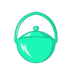 Bowler for food icon cartoon style vector image