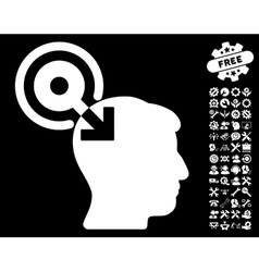 Brain Interface Plug-In Icon with Tools vector