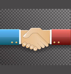 Businessman handshake partnership symbol vector