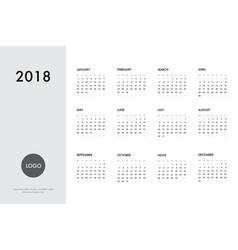 Calendar 2018 template vector