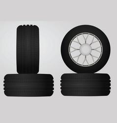 Car tires vector