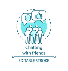 Chatting with friends concept icon vector