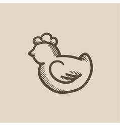 Chick sketch icon vector
